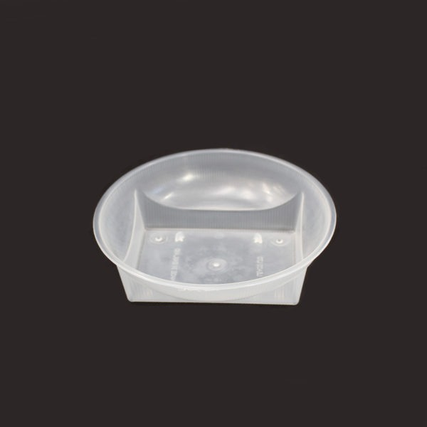 Clear Round Plastic Dish 1