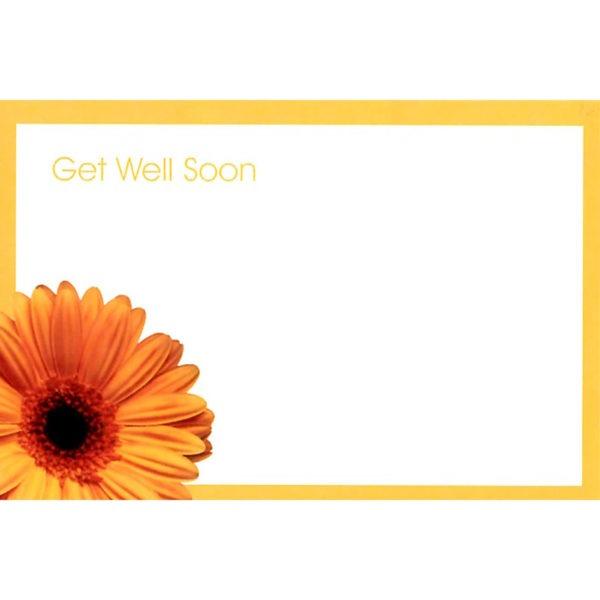 Small Cards - Get Well Soon - Orange Gerbera 1