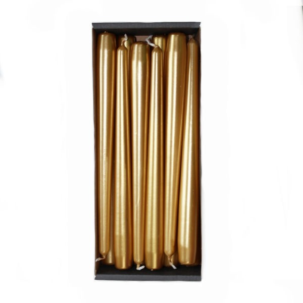 Tapered Candles - Gold - 23mm Base3. 1