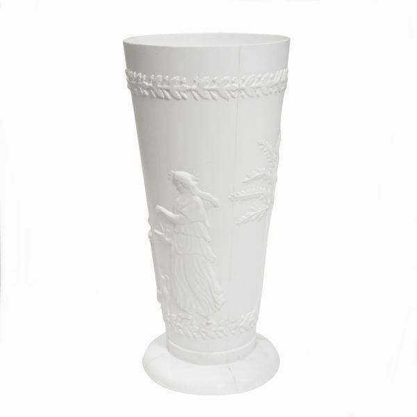 White Grecian Vase 1