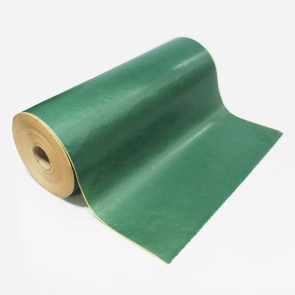 Dark Green Ribbed Kraft Paper Roll 1