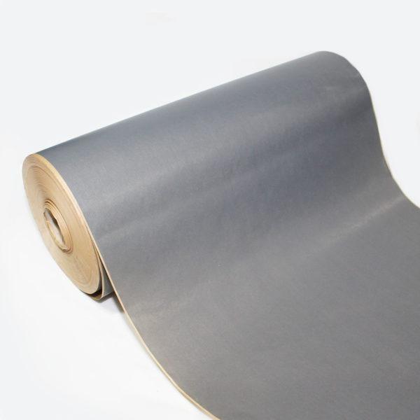 Grey Ribbed Kraft Paper Roll 1