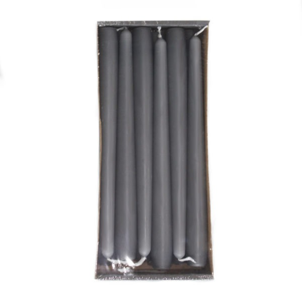 Tapered Candles - Slate Grey - 23mm Base 1