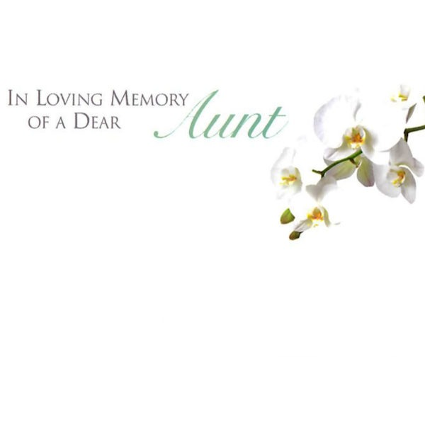 Small Cards - In Loving Memory Of A Dear Aunt 1