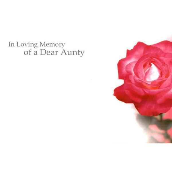 Small Cards - In Loving Memory Of A Dear Aunty 1