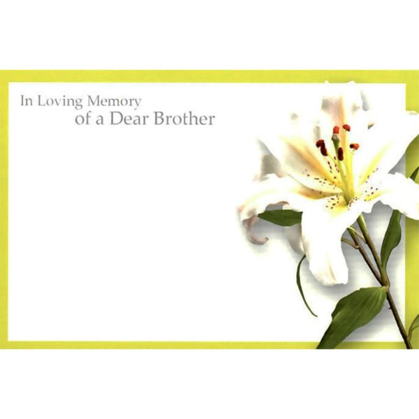 Small Cards - In Loving Memory Of A Dear Brother 1