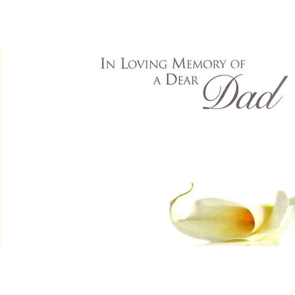Small Cards - In Loving Memory Of A Dear Dad 1