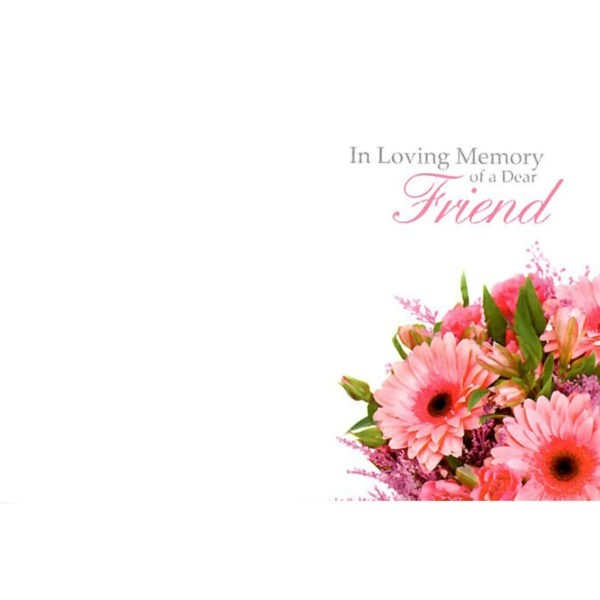 Small Cards - In Loving Memory Of A Dear Friend 1