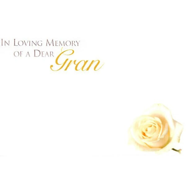 Small Cards - In Loving Memory Of A Dear Gran 1