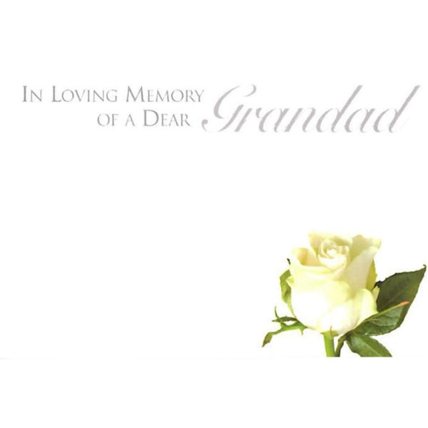 Small Cards - In Loving Memory Of A Dear Grandad 1