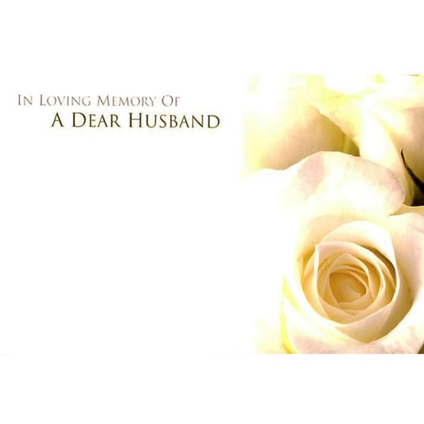 Small Cards - In Loving Memory Of A Dear Husband 1