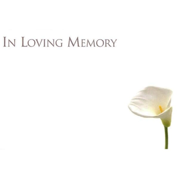 Small Cards - In Loving Memory 1