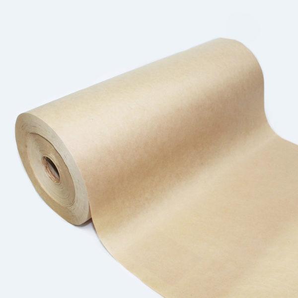 Ribbed Brown Kraft Paper Roll 1