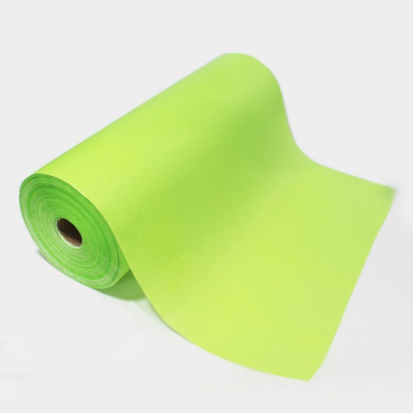 Lime Ribbed Kraft Paper Roll 1