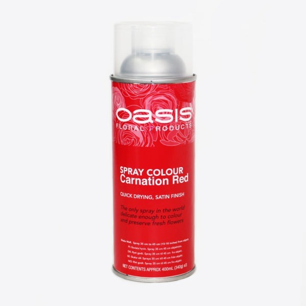 Oasis Spray Colour - Carnation Red 1