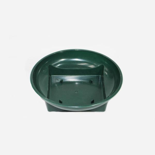 Green Plastic Square Round Dish 1