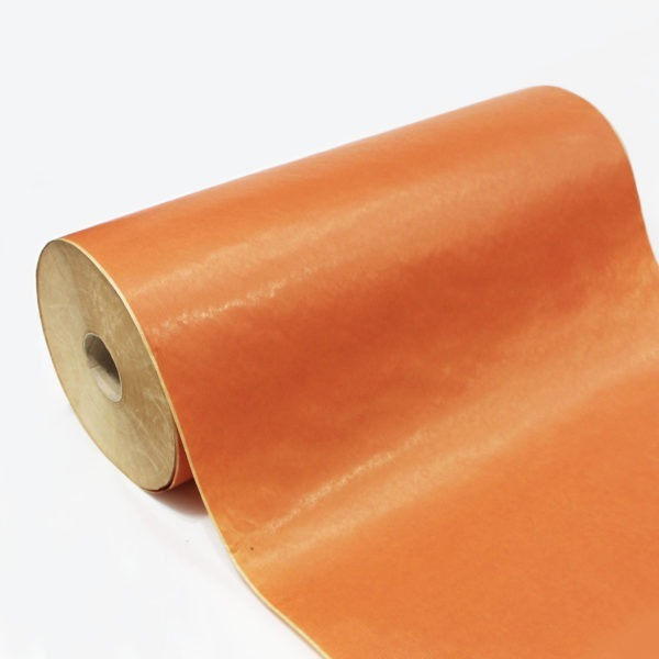 Orange Ribbed Kraft Paper Roll 1