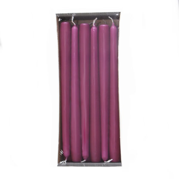 Tapered Candles - Orchid - 23mm Base 1