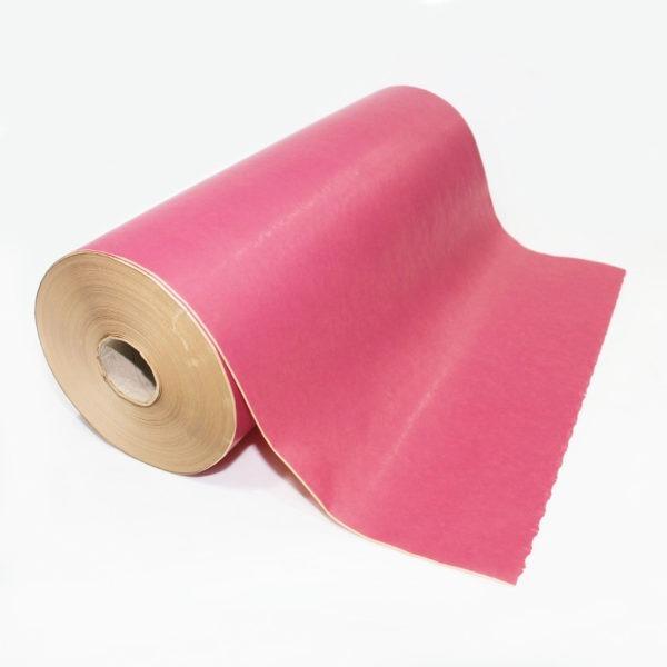 Cerise Ribbed Kraft Paper Roll 1