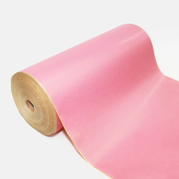 Pink Ribbed Kraft Paper Roll 1