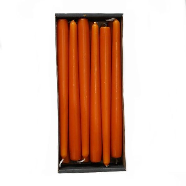 Tapered Candles - Pumpkin - 23mm Base 1