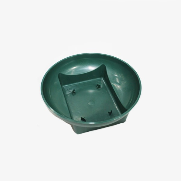 Green Plastic Rectangle Round Dish 1