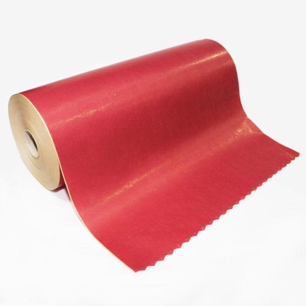 Burgundy Red Ribbed Kraft Paper Roll 1