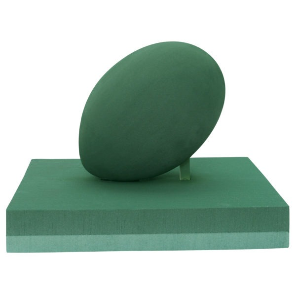 Val Spicer - Floral Foam 3D Shape - Rugby Ball on Pitch 1