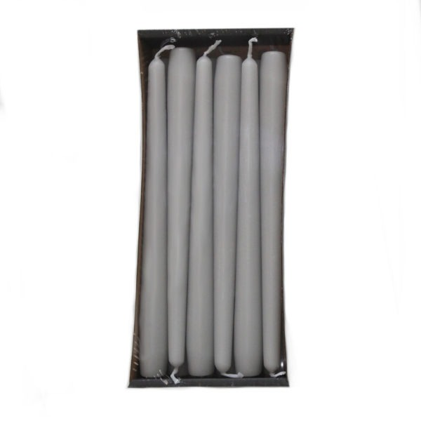 Tapered Candles - Light Grey - 23mm Base 1