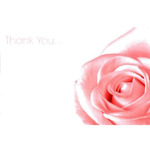 Small Cards - Thank You - Pink Rose 1