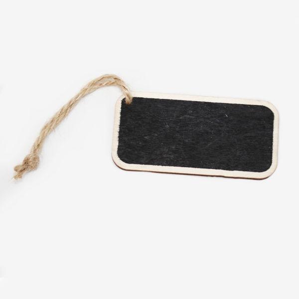 Wooden Blackboard Tag 1