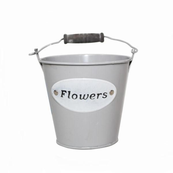 Mini Metal Bucket - Flowers 1
