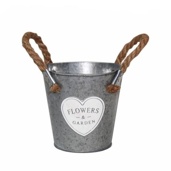 Mini Metal Bucket - Flowers and Garden 1