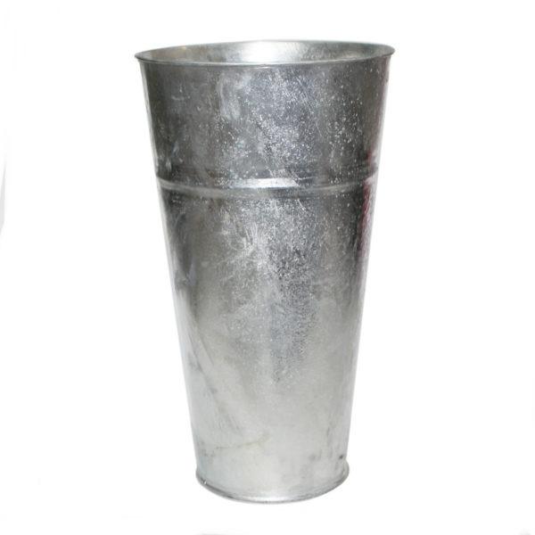 Large Metal Vase - Silver 1