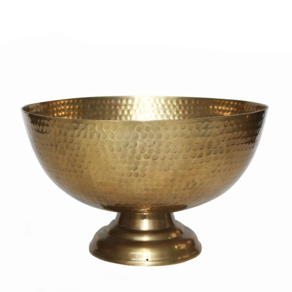 Textured Metal Bowl - Brass 1