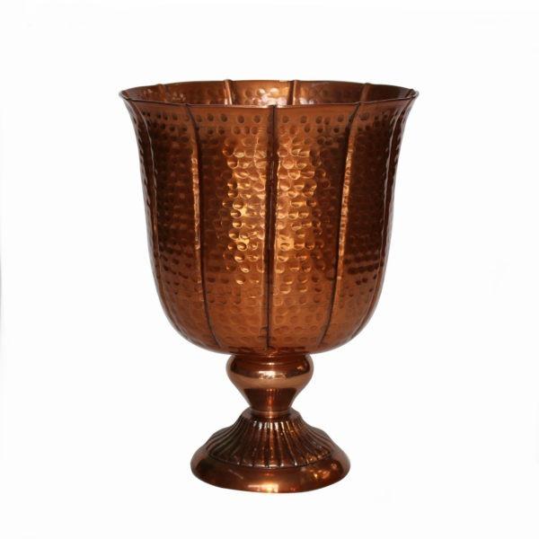Textured Metal Urn - Copper 1