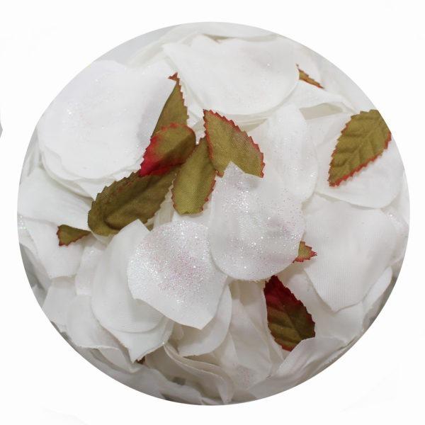 Rose Petals - Glittery White 1