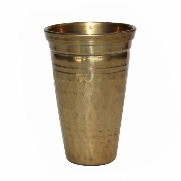 Textured Metal Cup - Gold 1
