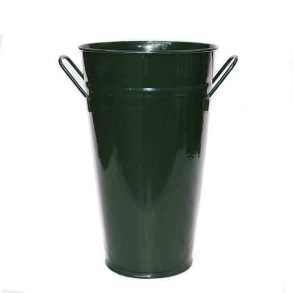 Metal Vase With Handles - Green 1
