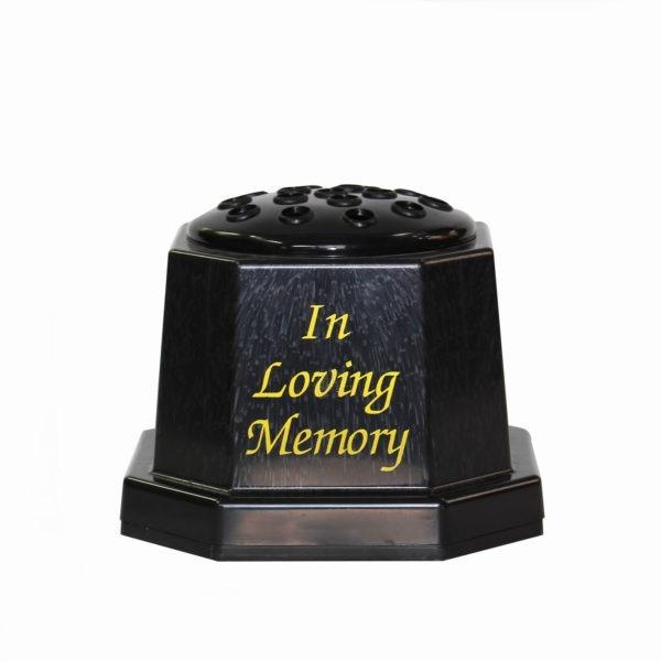 Black Graveside Vase - In Loving Memory 1