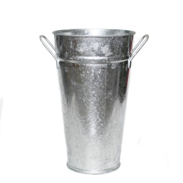 Metal Vase With Handles - Silver 1