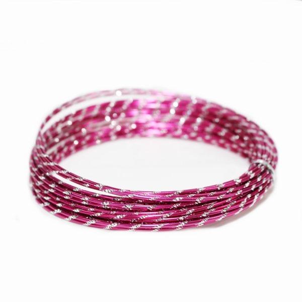 Pink Diamond Cut Aluminium Wire 1