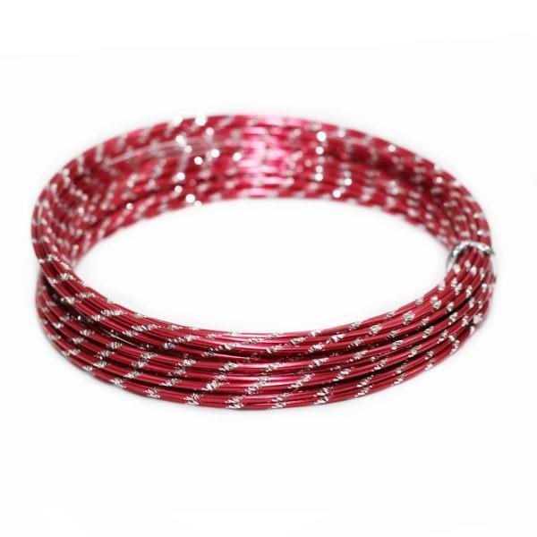 Red Diamond Cut Aluminium Wire 1