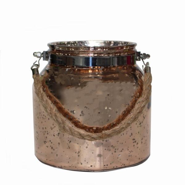 Speckled Glass Jar - Rose Gold 1