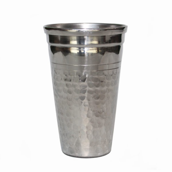 Textured Metal Cup - Silver 1
