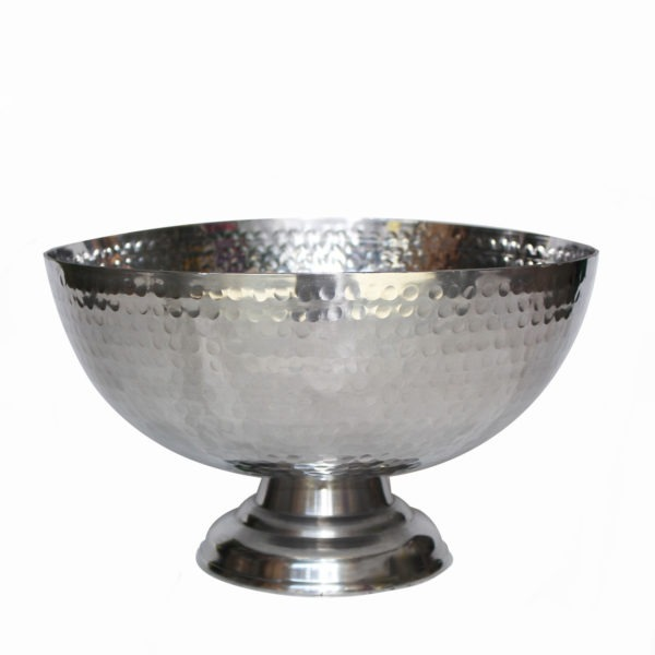 Textured Metal Bowl - Silver 1