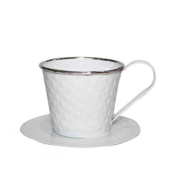 White Metal Teacup 1