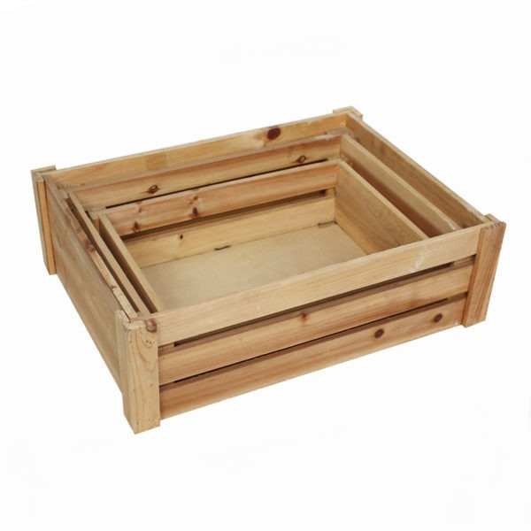 Wooden Crate Trio 1