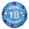 Happy Birthday Blue Foil Balloons 4