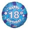 Happy Birthday Blue Foil Balloons 4
